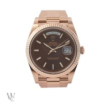 Rolex 40mm Automatic 2017 pre-owned Day-Date 40 Brown
