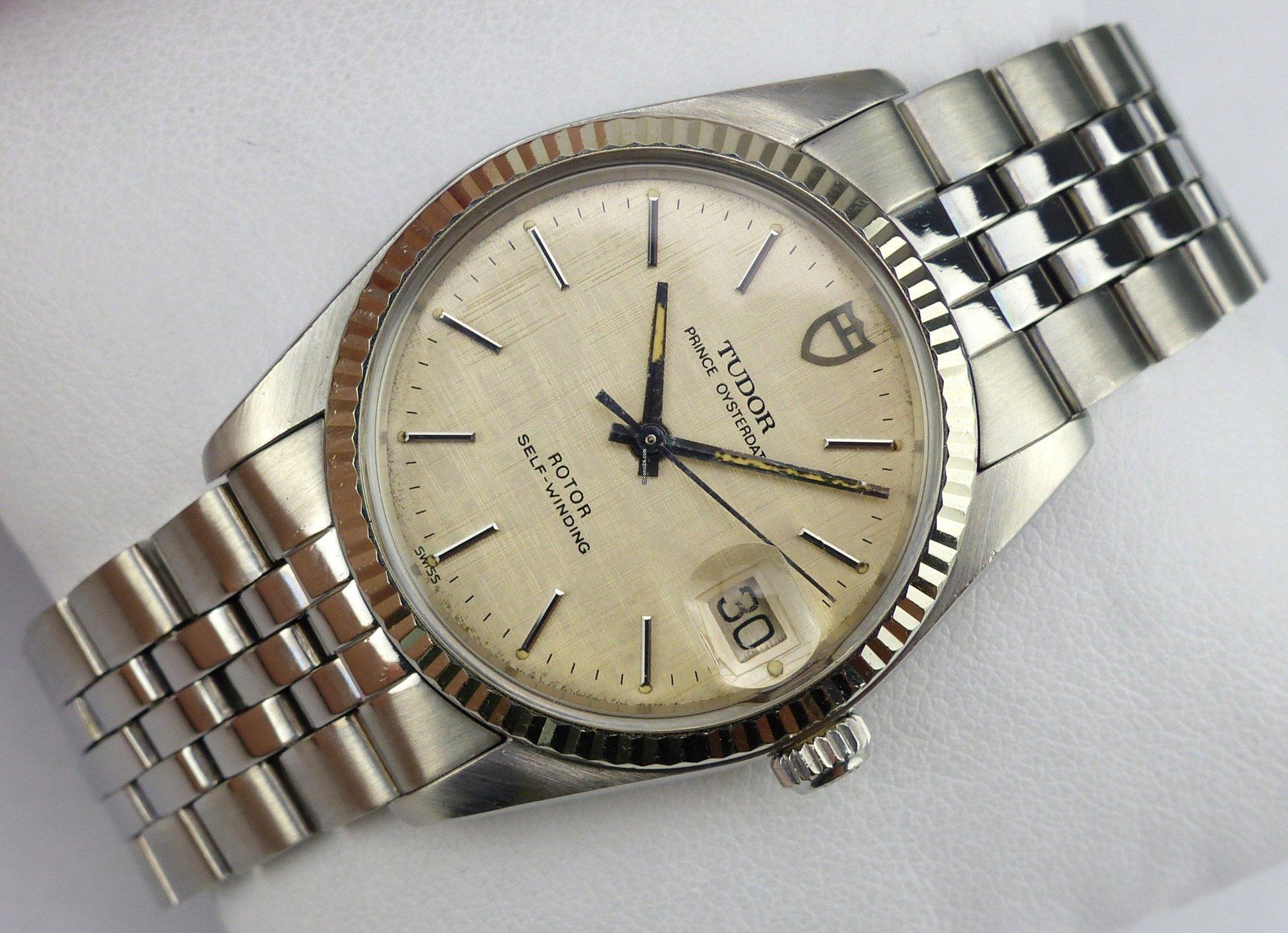 Tudor Prince Oysterdate - 75204 - Linen Dial - 1980s