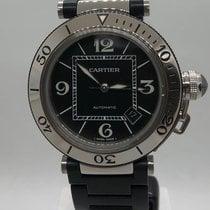 Cartier Pasha Seatimer Zeljezo 40mm Crn Arapski brojevi