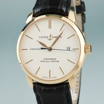 Ulysse Nardin Yellow gold Automatic White 39mm pre-owned