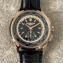 Patek Philippe World Time Chronograph Weißgold 39.5mm Blau Keine Ziffern