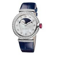 Bulgari White gold Automatic Mother of pearl Roman numerals 36mm new Lucea