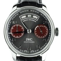 IWC Portuguese Annual Calendar Staal 44mm Rood