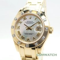 勞力士 Lady-Datejust Pearlmaster 黃金 29mm 珠母質