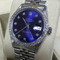 Rolex Oyster Datejust Steel Diamonds Special Blue Dial 36 mm