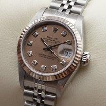 Rolex Lady Datejust Edelstahl Weissgold Diamant Automatic...