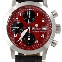 Tutima Fx Chronograph Red Japan Only Edition 38mm Complete...