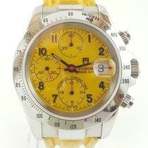 Tudor Prince Date Steel 41mm Yellow Arabic numerals