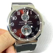 Ulysse Nardin Marine Chronometer 41mm подержанные 41mm Коричневый Дата Каучук