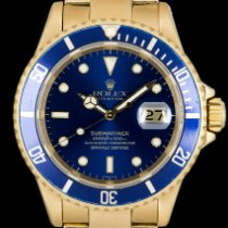 Rolex Submariner Date Yellow gold 40mm Blue No numerals United Kingdom, London