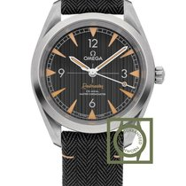 Omega Railmaster Co-Axial 40 mm Black Dial Fabric Strap