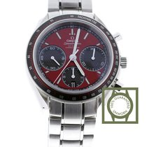 Omega Speedmaster Racing Red Co-Axial Chronograph Stainless...