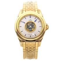 Omega De Ville Central Tourbillon Yellow gold 38.6mm Silver No numerals