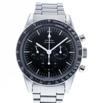 Omega Steel Manual winding Black 39mm pre-owned Speedmaster Professional Moonwatch