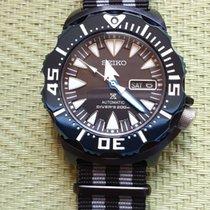 Seiko Prospex Ocel 42mm Černá Bez čísel
