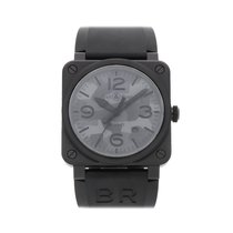 Bell & Ross Ceramic Automatic Black Arabic numerals 42mm pre-owned BR 03