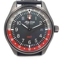Alpina Startimer Pilot Stahl 42mm Schwarz Arabisch