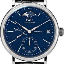 IWC Portofino Hand-Wound Acier 45mm Bleu