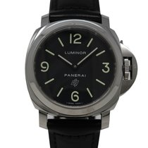 Panerai Luminor Base Logo Stal 44mm Czarny Arabskie