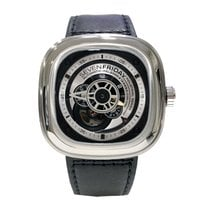 Sevenfriday P1B-1 Stal 47,6mm Czarny Bez cyfr