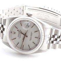 Rolex Mens 16234 Datejust - Silver Stick Marker Dial - Jubilee...
