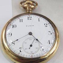 Elgin Acero y oro Cuerda manual ULTRA RARE VINTAGE ELGIN DA TASCA PLACCATO ORO 18KT 3/4 DIAM usados