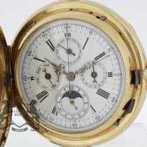 Hermann Quarter Repeater Pocket Watch Moon Phase Chronograph...