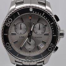 TAG Heuer Link Quartz Chronograph Silver Dial Mens Steel...