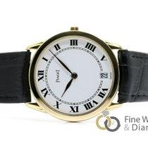 Piaget Saat ikinci el Sarı altın 31.50mm Romen rakamları Quartz Orijinal kutuya sahip saat