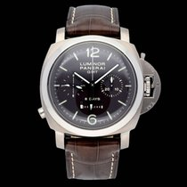Panerai Luminor 1950 8 Days Chrono Monopulsante GMT Titanium 44mm Brown Arabic numerals South Africa, Centurion