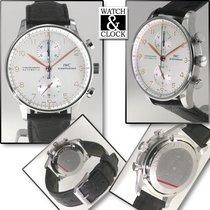 IWC Portuguese Chronograph Acciaio Argento Arabo Italia, Milano