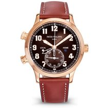 Patek Philippe Travel Time Rose gold 42mm Brown Arabic numerals United States of America, New York, NEW YORK