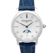Frederique Constant Slimline Moonphase Steel 30mm Mother of pearl