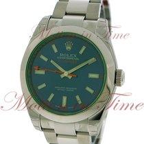 Rolex Milgauss, Blue Dial, Green Sapphire Crystal - Stainless...