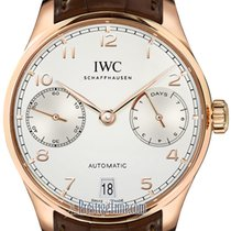 IWC Rose gold Automatic Silver 42.3mm new Portuguese Automatic