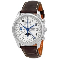 Longines Men's L26734783 Master Collection 40mm Chrono  Moon...