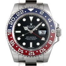 Rolex White gold Automatic Black No numerals 40mm new GMT-Master II