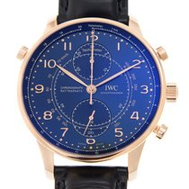 IWC Portuguese 18k Rose Gold Blue Automatic IW371215