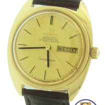 Omega Constellation C 18K Yellow Gold Day Date 168.029 33mm Watch