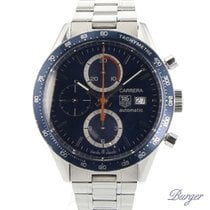 TAG Heuer Carrera Calibre 16 pre-owned 41mm Blue Chronograph Date Tachymeter Steel