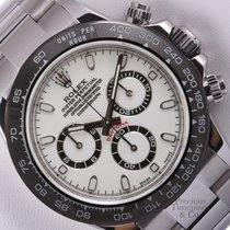 Rolex Daytona 116520 S/Steel 40mm Watch-New Style White/Black...
