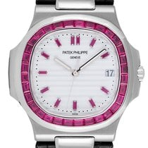 Patek Philippe 5711G White Gold Custom Red Ruby Set