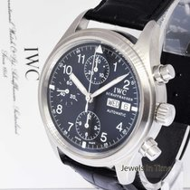 IWC Der Flieger Pilots Chronograph Steel Automatic Watch 3706