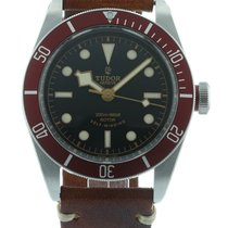 Tudor Heritage Black Bay 79220R Watch with Leather Bracelet...