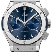 Hublot Classic Fusion Blue Titanium 45mm Blue No numerals United States of America, New York, NYC