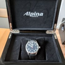 Alpina Startimer Pilot Automatic gebraucht 44mm Schwarz Datum Leder