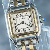 Cartier Panthère Or/Acier 22mm Blanc Romain