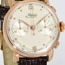 Minerva Rose gold 36mm Manual winding pre-owned