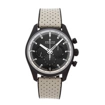Zenith Ceramic Automatic Black No numerals 42mm pre-owned El Primero Chronomaster