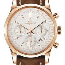 Breitling Transocean Chronograph Rose gold 43mm Silver United States of America, New York, NY